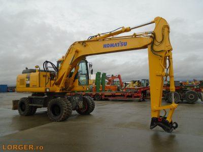 Excavator pe pneuri Komatsu PW 180-7E0 -2007