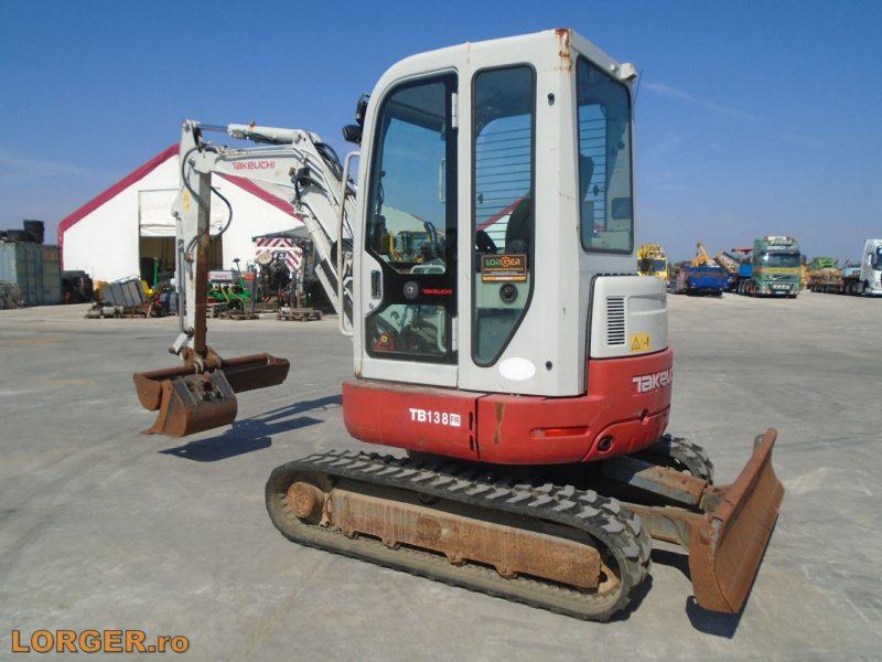 Miniexcavator Takeuchi TB138 FR